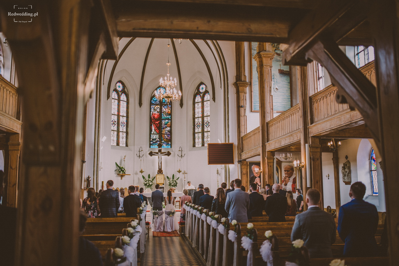Wnętrze kościoła w Ustce